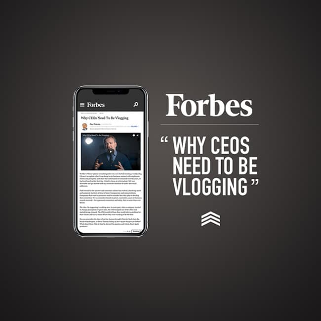 Why CEOs Need To Be Vlogging